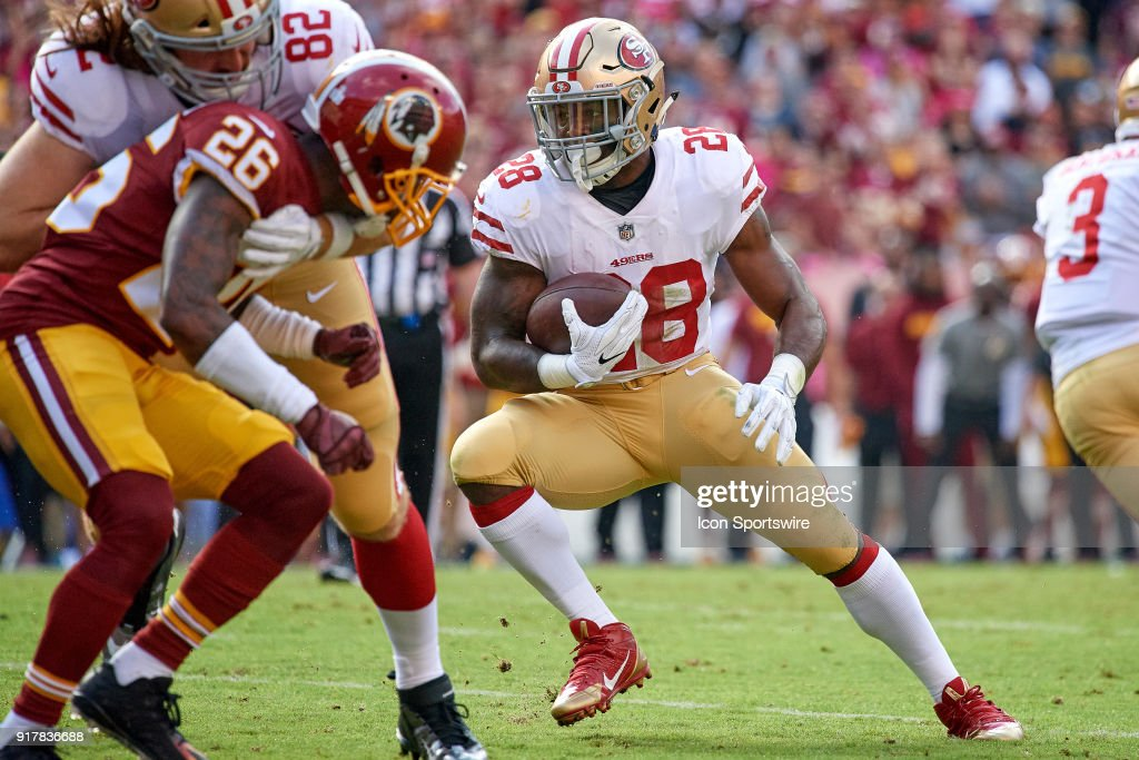 Nfl oct 15 49ers at redskins pictures getty images san francisco 49ers running back carlos hyde 28 runs with the football during a voltagebd Gallery