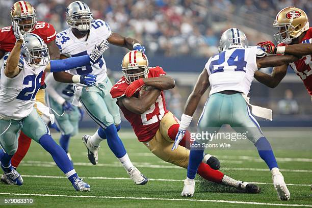 San Francisco 49ers Running Back Frank Gore [7741] makes a cutback during the NFL season opener football game between the Dallas Cowboys and San...