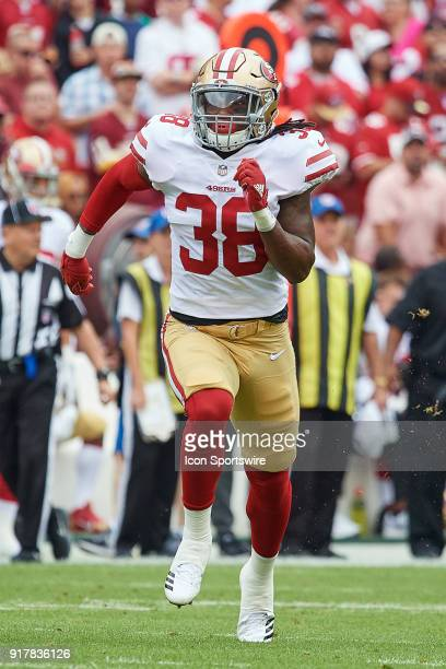 San Francisco 49ers safety Adrian Colbert runs in action during a NFL football game between the San Francisco 49ers and the Washington Redskins on...