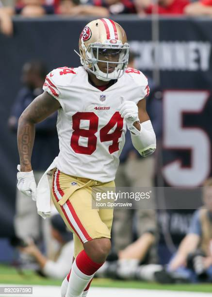 San Francisco 49ers wide receiver Kendrick Bourne approaches the line of scrimmage during the NFL game between the San Francisco 49ers and Houston...