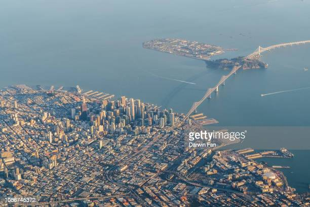 san francisco aerial - treasure island california stock pictures, royalty-free photos & images