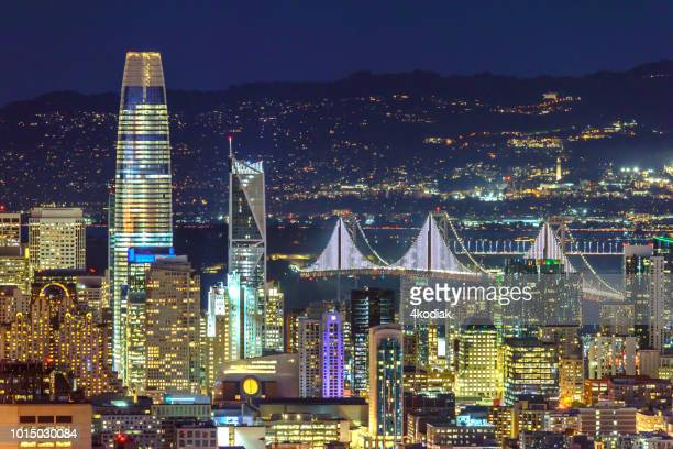 san francisco after sunset - san francisco california stock photos and pictures