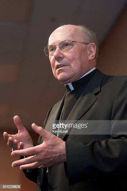 San Francisco Archbishop William Levada attends a press conference in San Francisco Calif May 13 2005 Pope Benedict XVI named San Francisco...