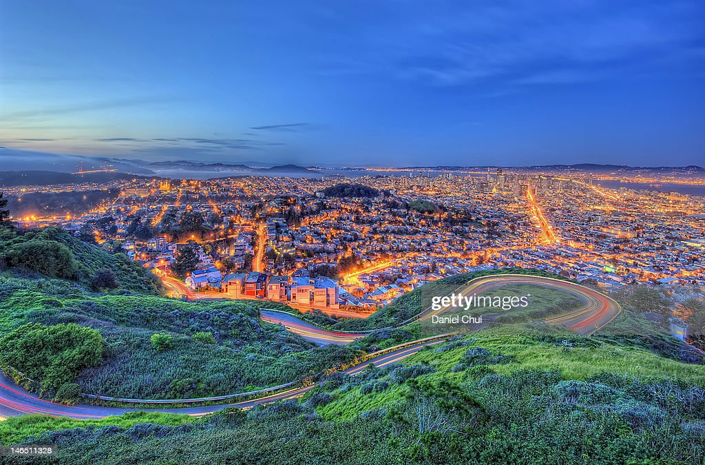 San Francisco at twilight : Stock Photo