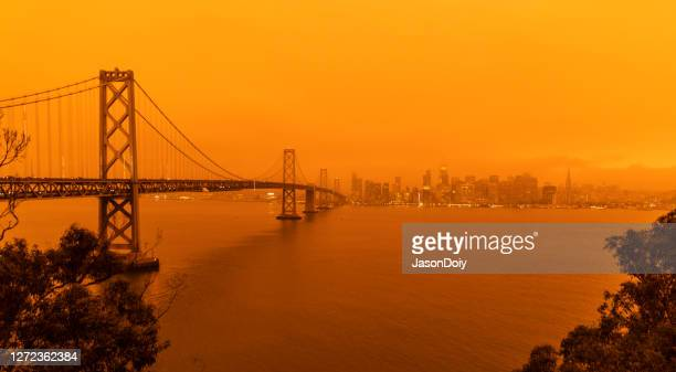 san francisco bay area  air quality - california wildfire stock pictures, royalty-free photos & images