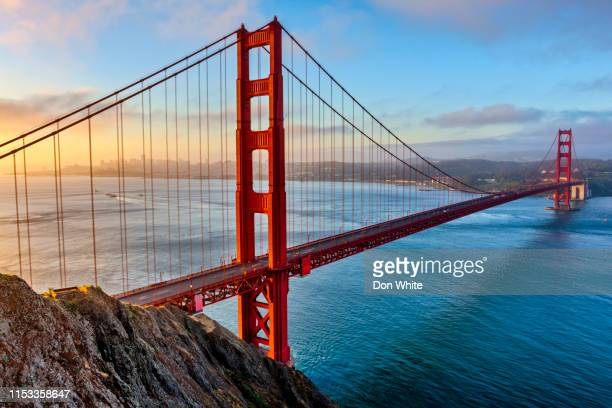 san francisco bay area in california - golden gate bridge stock pictures, royalty-free photos & images