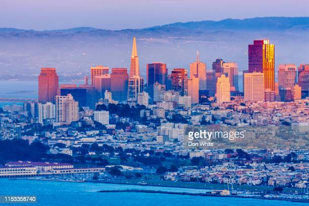 san francisco bay area in california - oakland california skyline stock pictures, royalty-free photos & images