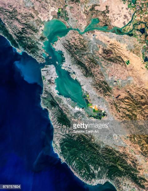 San Francisco Bay Area Satellite Image, California, USA