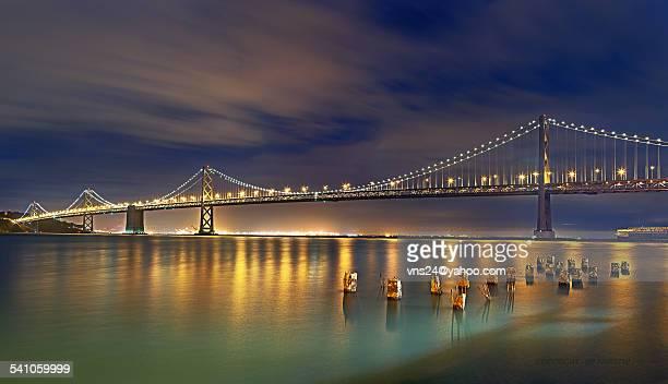 San Francisco Bay Bridge: Under Moon