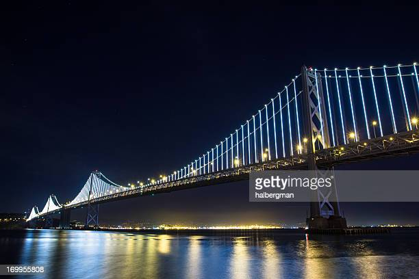 San Francisco Bay Bridge with LED Lights