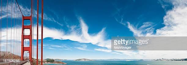 San Francisco Bay Golden Gate Bridge big sky panorama California
