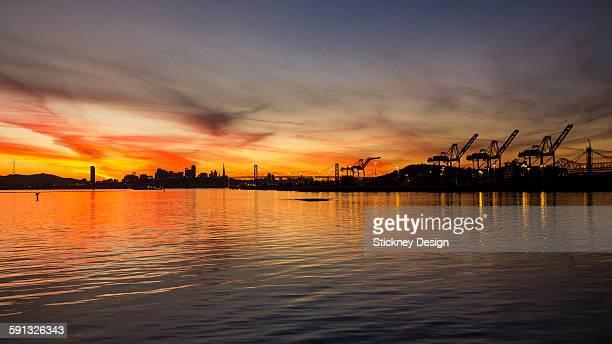 san francisco bay sunset - formato de alta definição - fotografias e filmes do acervo