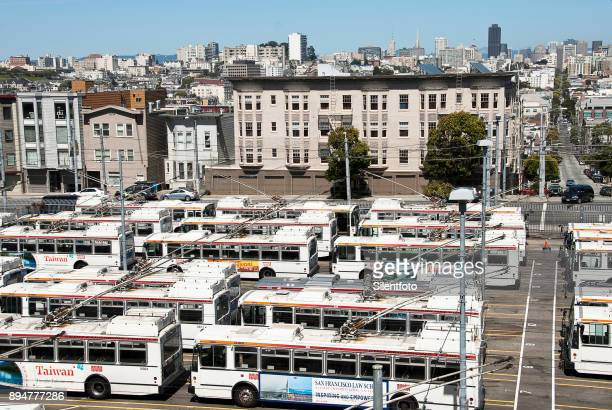 San Francisco Bus Depot With City View