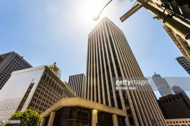 San Francisco business district in California, USA