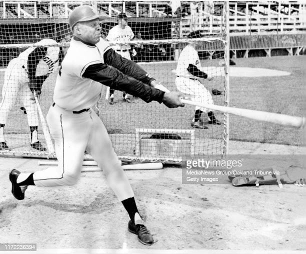 San Francisco, CA March 1965 - Willie Mays at batting practice with the San Francisco Giants.
