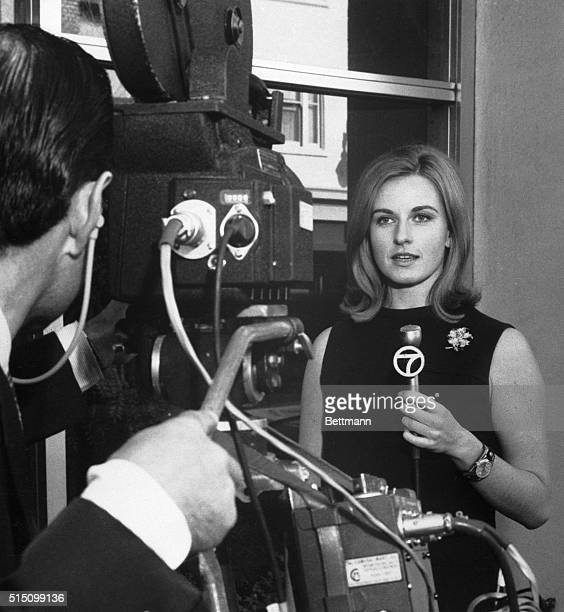 San Francisco, CA- Pia Lindstrom, film star Ingrid's daughter, appears on camera during recent news assignment for KGO-TV, San Francisco. Pia, who...