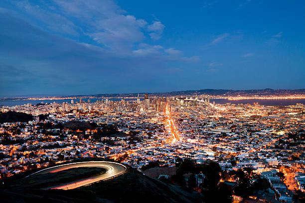 San Francisco, California At Night Wall Art