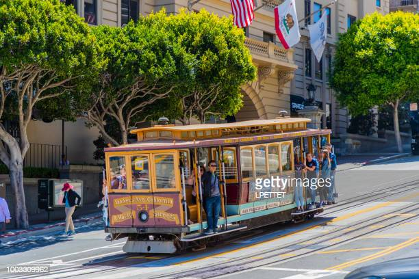 san francisco - california - tram stock photos and pictures