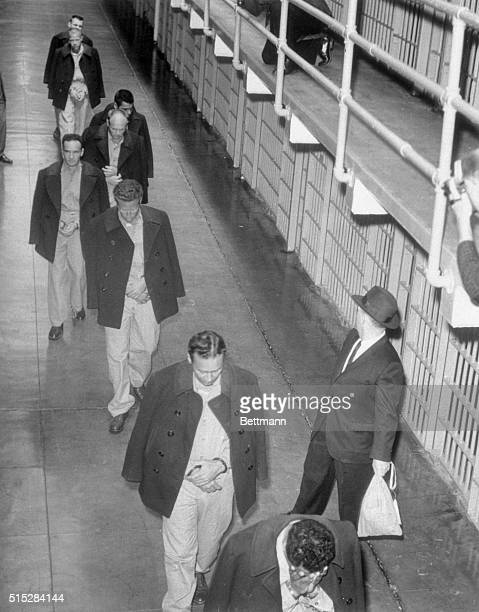 San Francisco California The last inmates of Alcatraz federal prison are shown as they file out of the cell blocks for the final time as the federal...