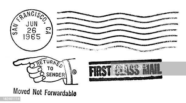 san francisco, califórnia vintage marca postal - marca postal - fotografias e filmes do acervo