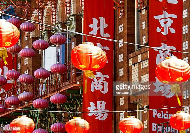 san francisco chinatown district - san francisco chinatown stock photos and pictures