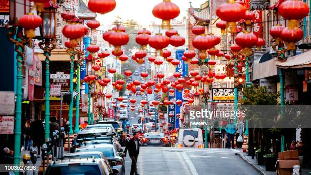 san francisco chinatown - chinatown stock pictures, royalty-free photos & images