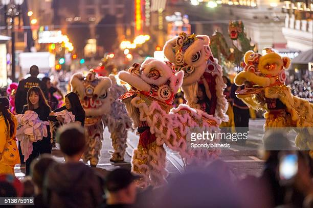 san francisco chinese new year parade in chinatown - chinatown stock pictures, royalty-free photos & images