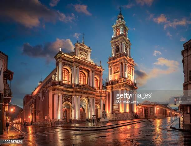 san francisco church - salta, argentina - サルタ州 ストックフォトと画像