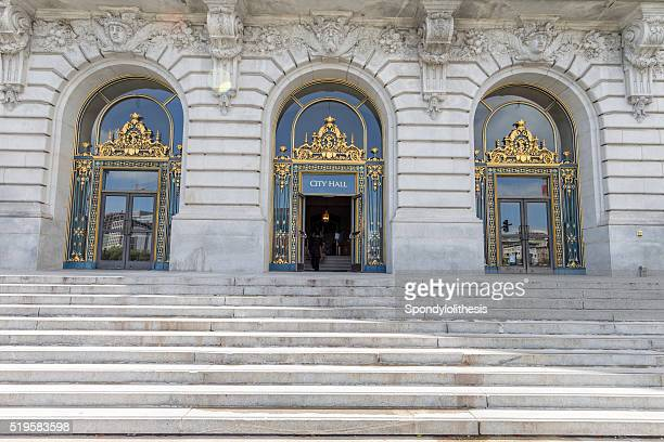 san francisco city hall front dorrs - capital cities stock photos and pictures
