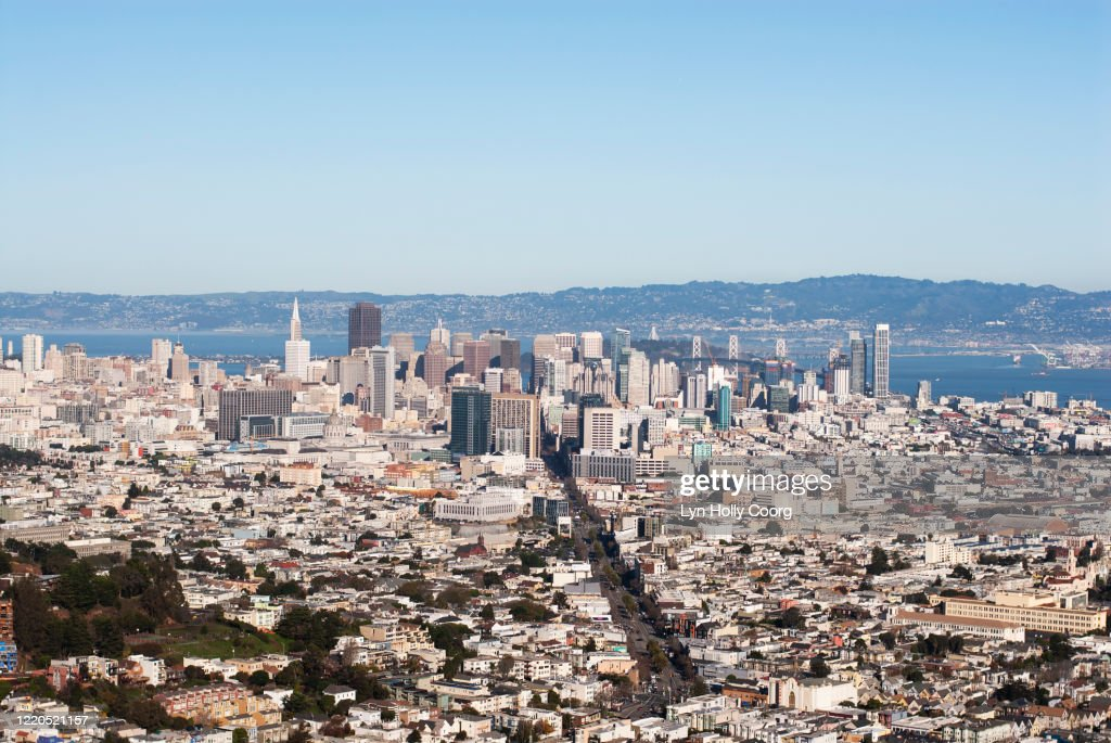 San Francisco city view from Twin Peaks : Stock Photo