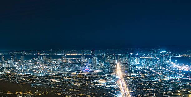 San Francisco Cityscape At Night Wall Art