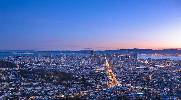 San Francisco cityscape in sunrise