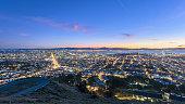 San Francisco cityscape in sunrse