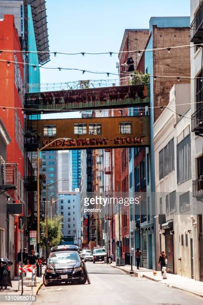 """san francisco downtown alley - """"peeter viisimaa"""" or peeterv stock pictures, royalty-free photos & images"""