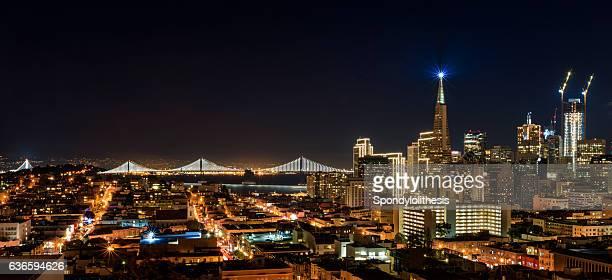 San Francisco downtown skyline at Chrismas Night