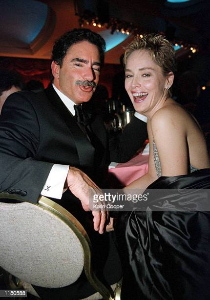San Francisco Examiner editor Phil Bronstein and new wife actress Sharon Stone during the annual White House Correspondents Association Dinner at the...