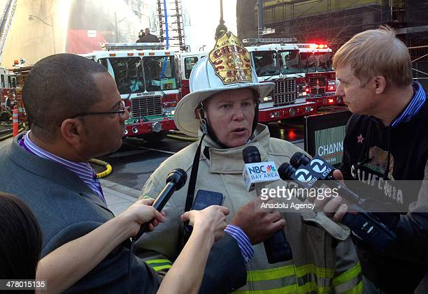 San Francisco fire Chief Joanne HayesWhite speaks to the media about the fire at a multistory building under construction in Mission Bay neighborhood...
