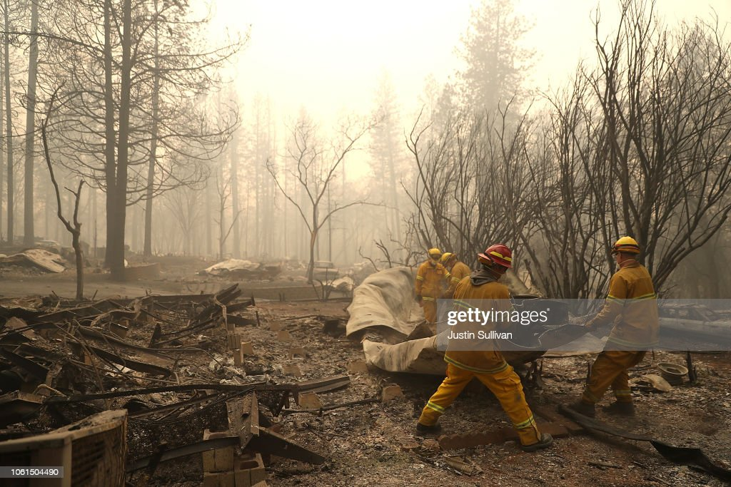 California Town Of Paradise Devastated By The Camp Fire Continues Search And Recovery Efforts : News Photo