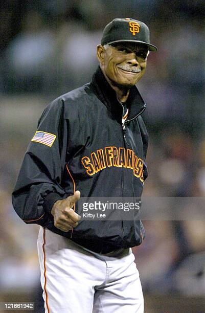 San Francisco Giants manager Felipe Alou during 41 victory over the San Diego Padres at Petco Park in San Diego Calif on Thursday Sept 30 2004