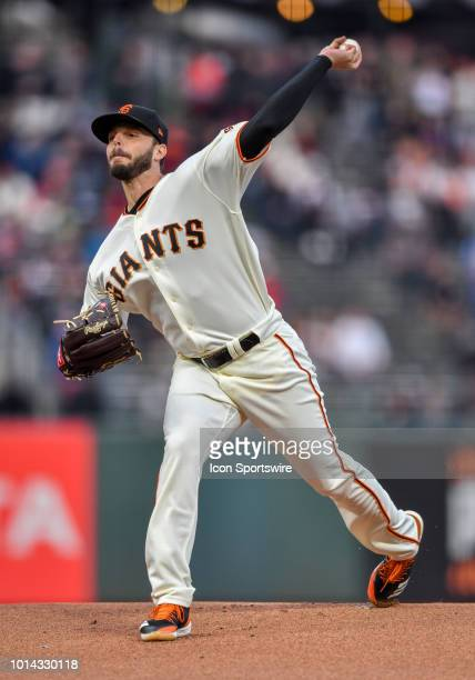 San Francisco Giants Pitcher Andrew Suarez pitching during the first inning of the regular season MLB game between the Pittsburgh Pirates and the San...
