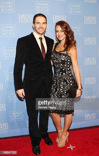 "San Francisco Giants pitcher Barry Zito and wife Amber Seyer attends The David Lynch Foundation Hosts ""An Intimate Night Of Jazz"" at Frederick P...."