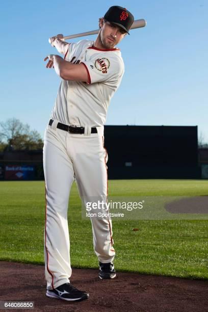 San Francisco Giants Steven Duggar poses for a portrait during San Francisco Giants photo day on Feb 20 at Scottsdale Stadium in Scottsdale Ariz