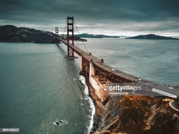 san francisco golden gate bridge aerial view