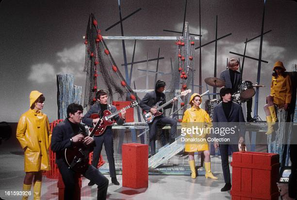 San Francisco group The Beau Brummels perform on the NBC TV music show 'Hullabaloo' in March 1965 in New York City New York