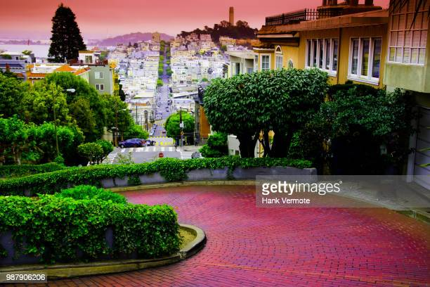 san francisco lombard st - hank vermote stock pictures, royalty-free photos & images