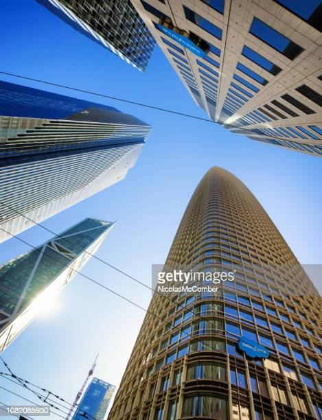San Francisco Low Angle view of new Salesforce office tower
