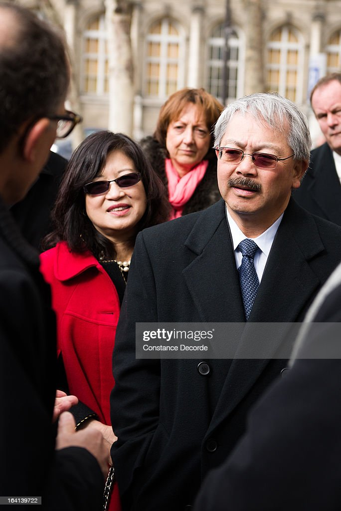 San Francisco Mayor Ed Lee makes an official visit for the Autolib presentation, on March 20, 2013 in Paris, France.