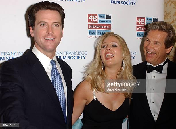 San Francisco Mayor Gavin Newsom Isabelle Bridges and Jeff Bridges