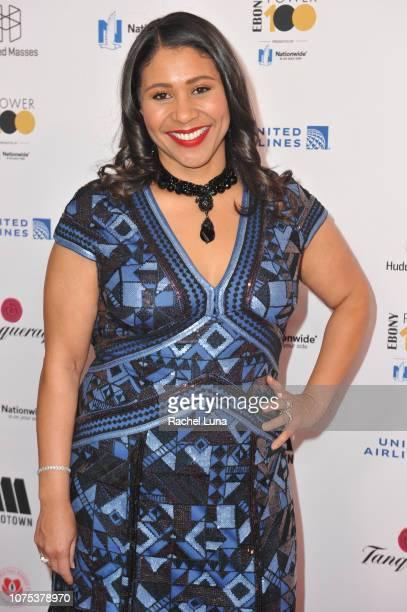 San Francisco Mayor London Breed attends Ebony Magazine's 'Ebony's Power 100 Gala' at The Beverly Hilton Hotel on November 30 2018 in Beverly Hills...