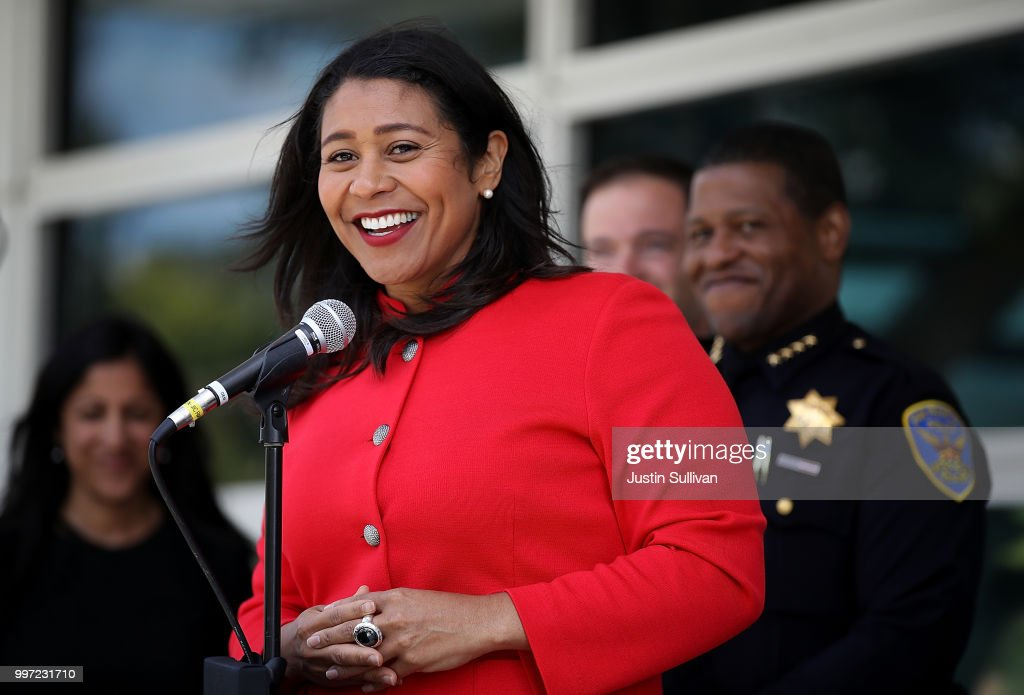 Newly Sworn In San Francisco Mayor London Breed Attends Meeting On Emergency Preparedness